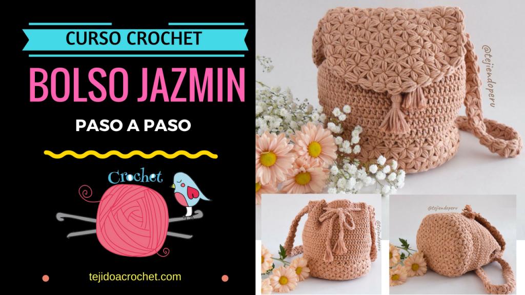 Bolso Jazmín paso a paso tejido a crochet