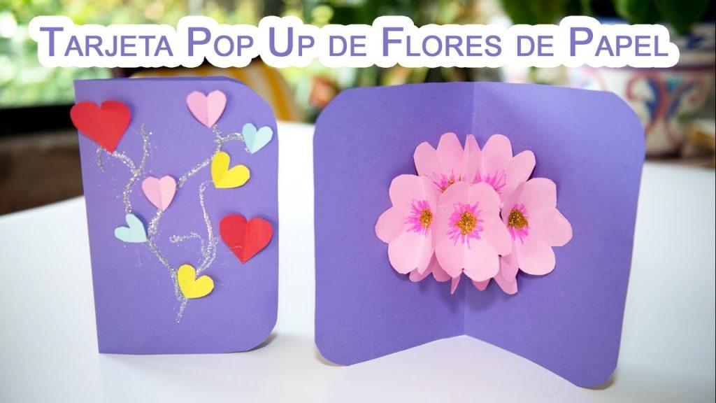 🌸Como Hacer una Tarjeta Pop Up de Flores 3D🌼