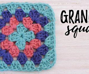 Granny Square Tutorial Crochet Paso a Paso